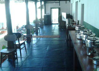 Dining area of nammane homestay chikmagaluru